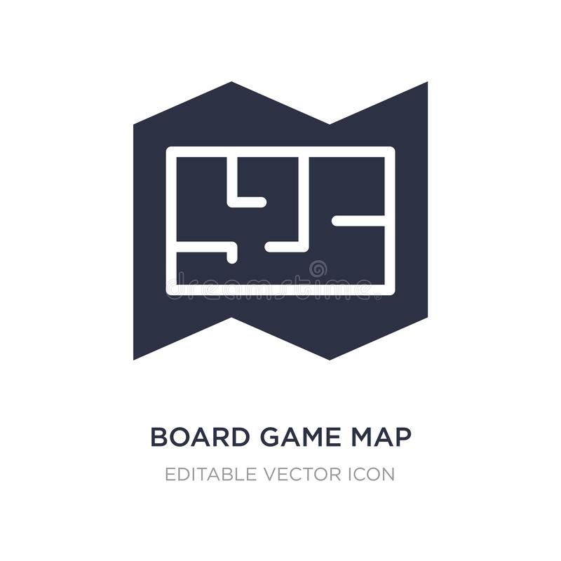 Board game map icon on white background. Simple element illustration from Entertainment concept. Board game map icon symbol design vector illustration