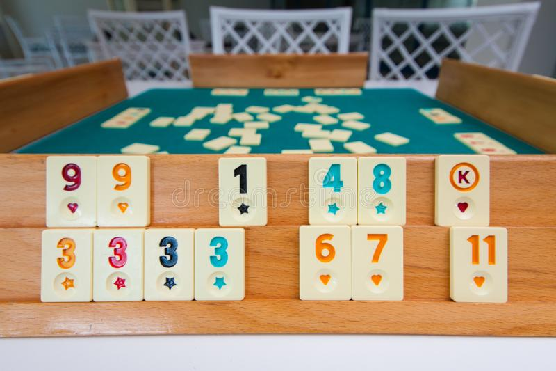 Rummy Board During Game Stock Image Image Of Focus 153557133