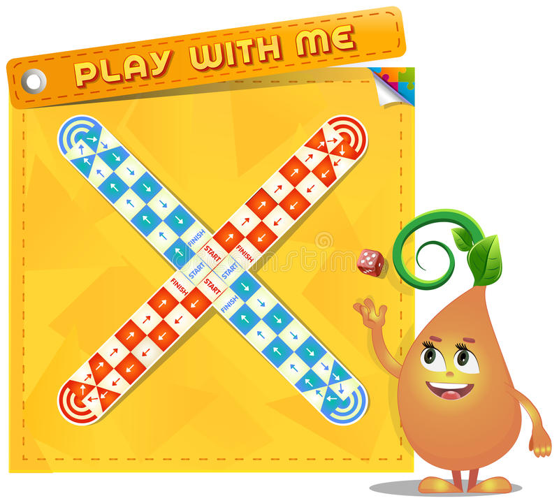 Board game Play with me stock illustration