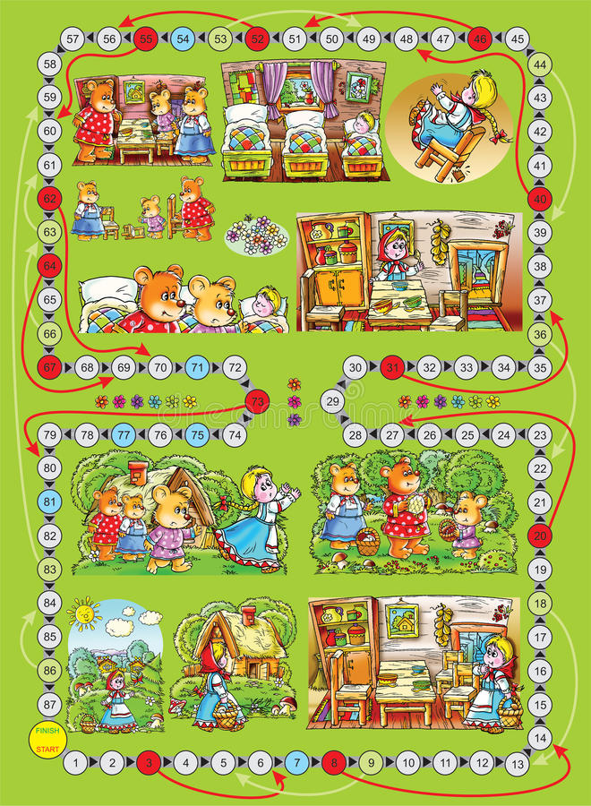 "Download Board Game ""Three Bears"" Stock Photography - Image: 12473642"