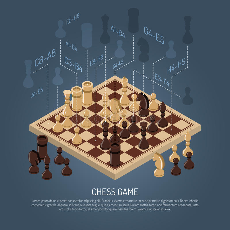Board Games Composition stock illustration