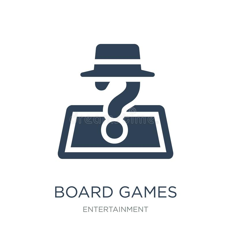 board games with roles icon in trendy design style. board games with roles icon isolated on white background. board games with stock illustration