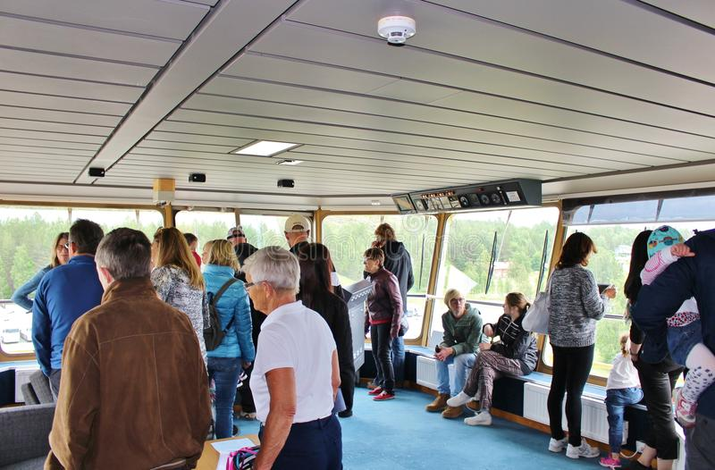 On board at the icebreakers in Luleå royalty free stock photo