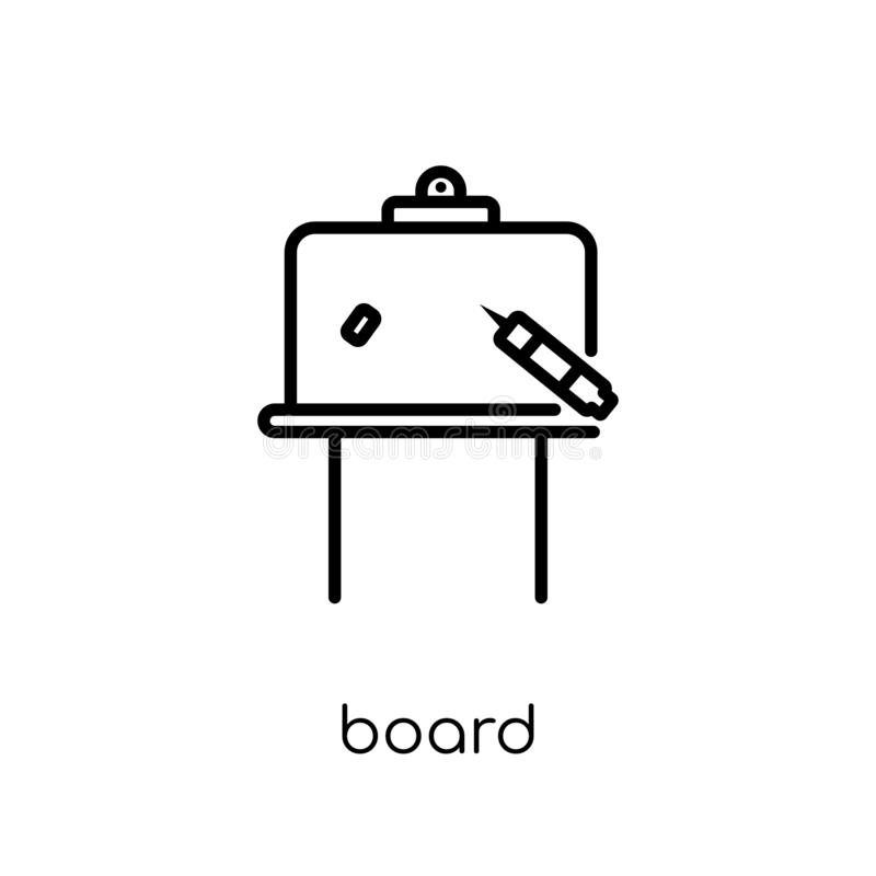 Board icon. Trendy modern flat linear vector Board icon on white stock illustration