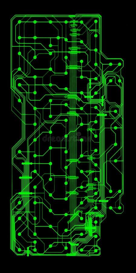 board illustrerad strömkretsgreen vektor illustrationer