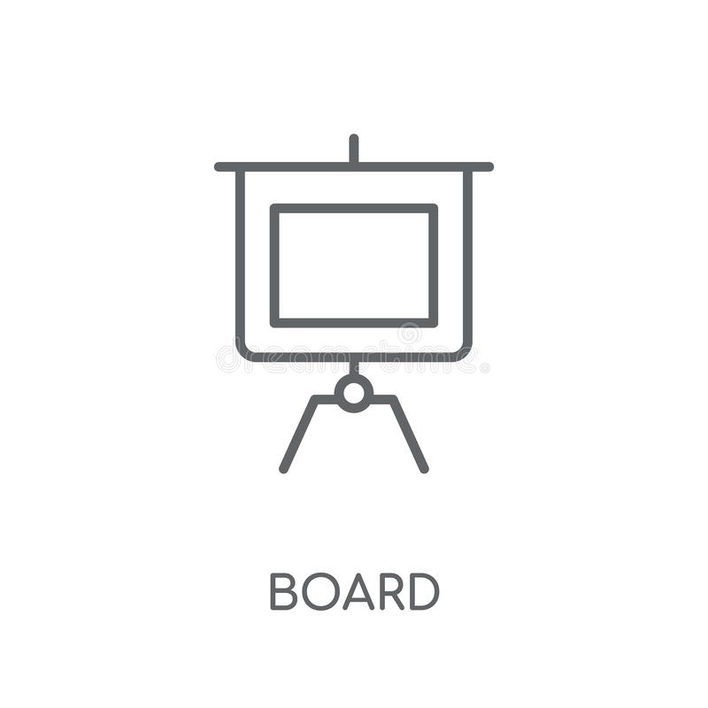 Board linear icon. Modern outline Board logo concept on white ba vector illustration