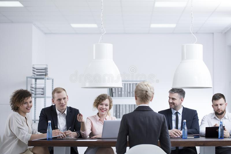 Annual performance review royalty free stock image
