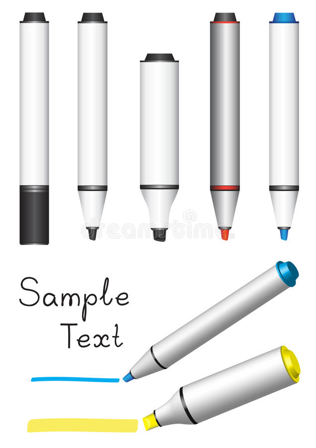 Download Board marker stock vector. Image of drawing, blue, line - 12928245