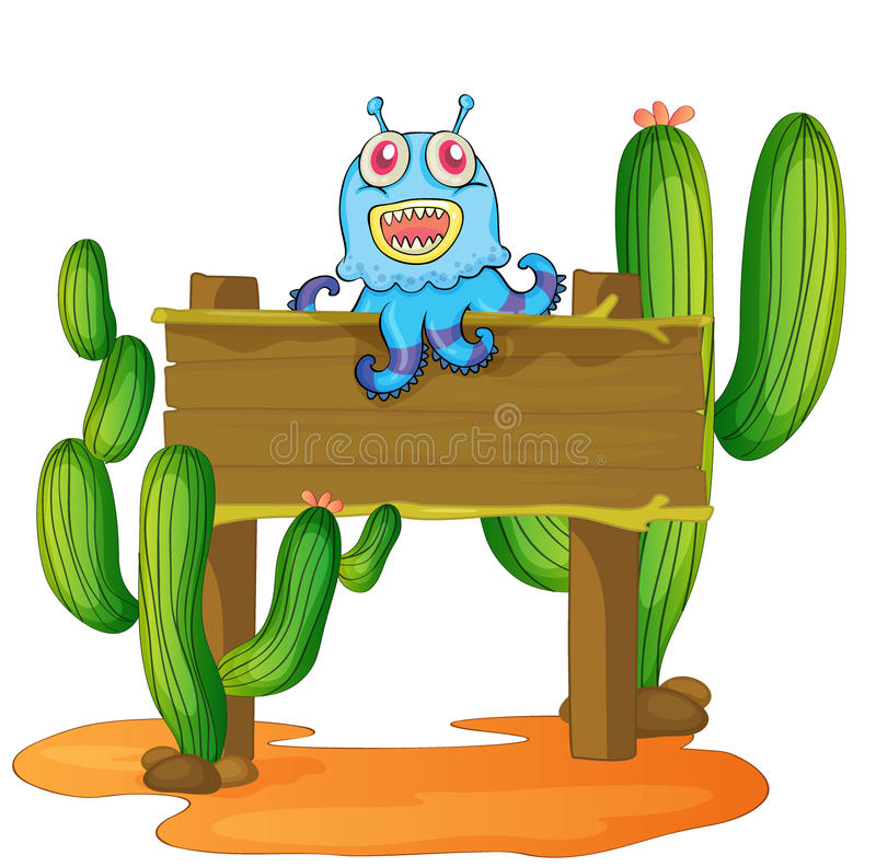Download Board and monster stock illustration. Image of monstrous - 29373642
