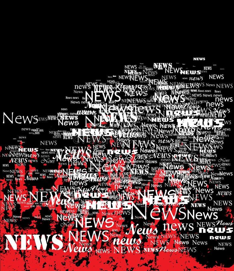 Board of news. stock illustration