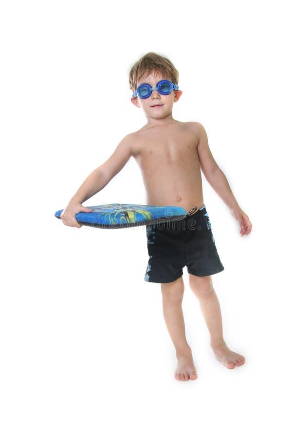 board pojkedykninggoggles över white royaltyfri foto