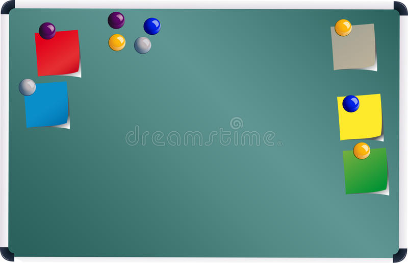 Board With Post It Royalty Free Stock Photo