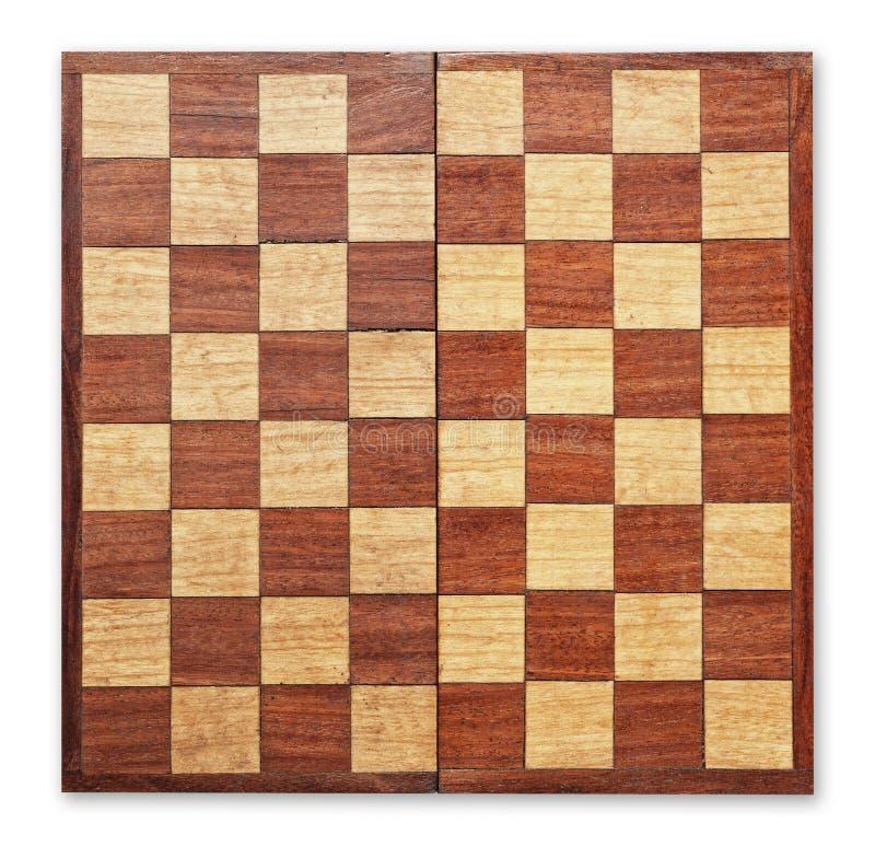 board schacket isolerat gammalt trä royaltyfri bild