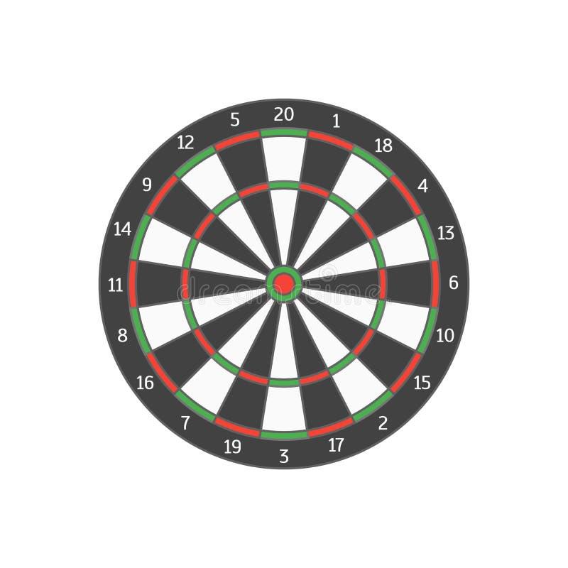 Board Target. Vector royalty free illustration