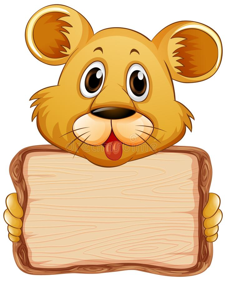 Free Board Template With Cute Bear On White Background Stock Image - 183619021