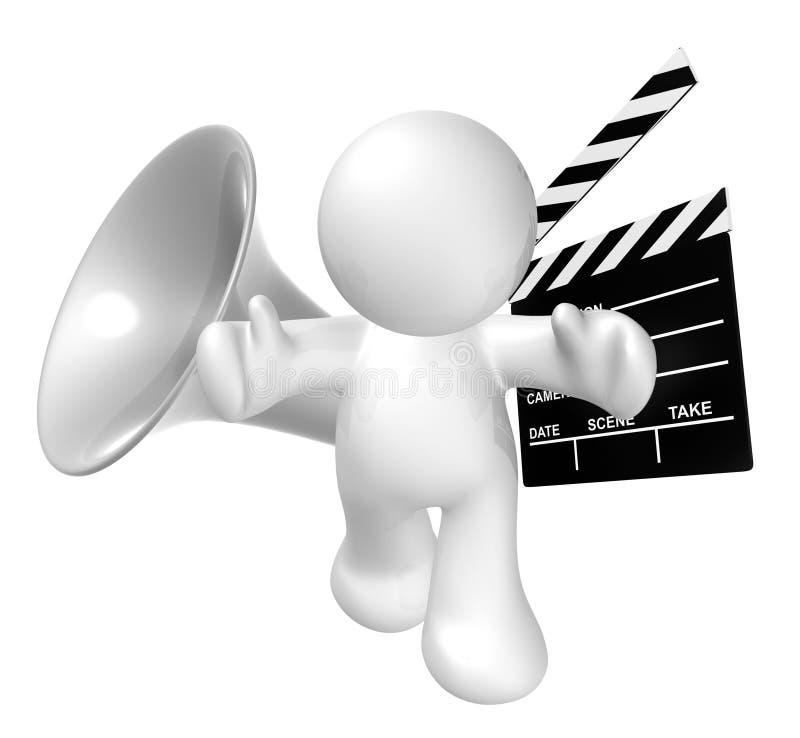 board white för platsen för symbolen för holdingen för applådfilmgrabben vektor illustrationer