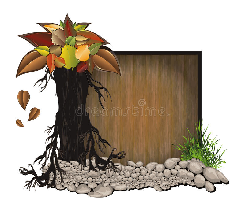 Download Board wood stone stock illustration. Image of color, ecology - 20806820