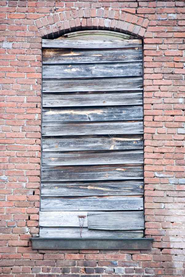 Boarded up window royalty free stock images