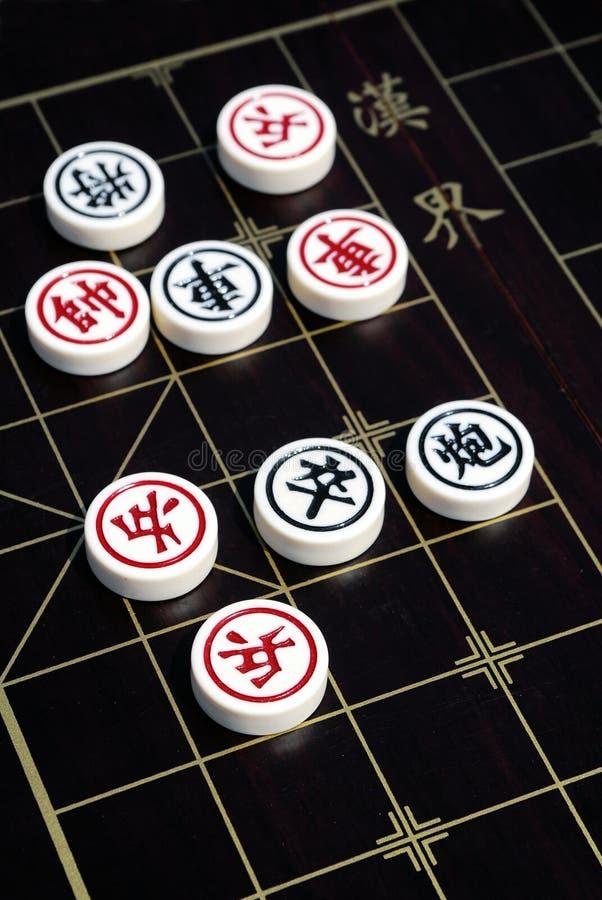 Boardgame chinois d'échecs photographie stock libre de droits