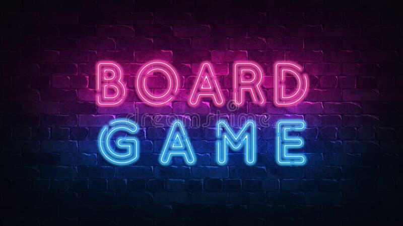 Boardgame Conceptual financeiro Image Sinal de n?on, grande projeto para algumas finalidades 3d rendem Projeto moderno Projeto re ilustração do vetor