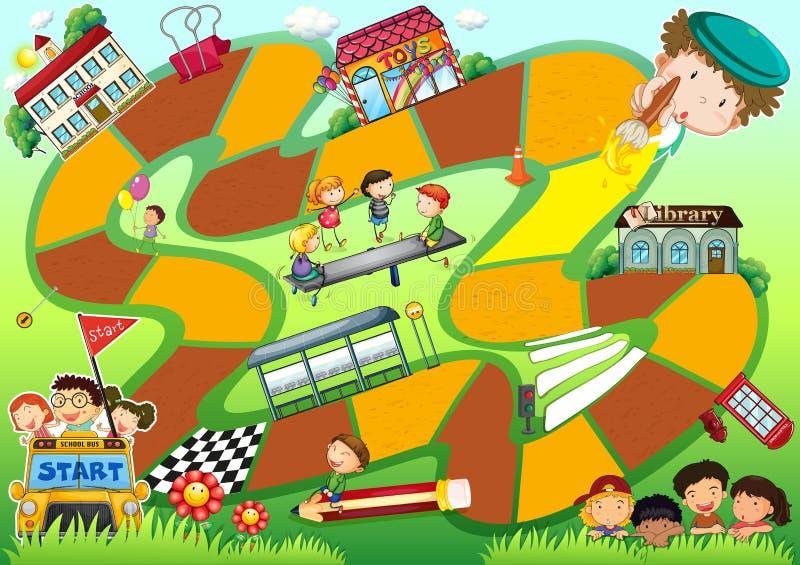 Boardgame tema royaltyfri illustrationer