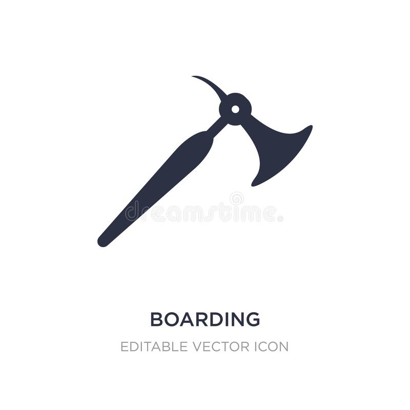 boarding icon on white background. Simple element illustration from Weapons concept royalty free illustration