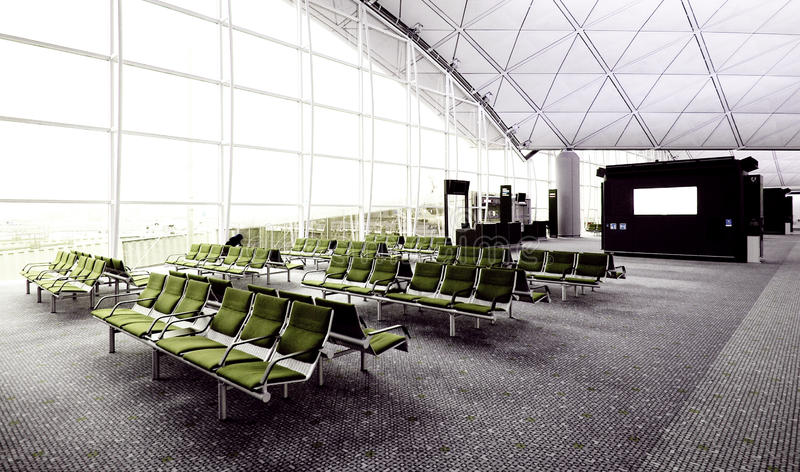 Boarding Lounge stock photo