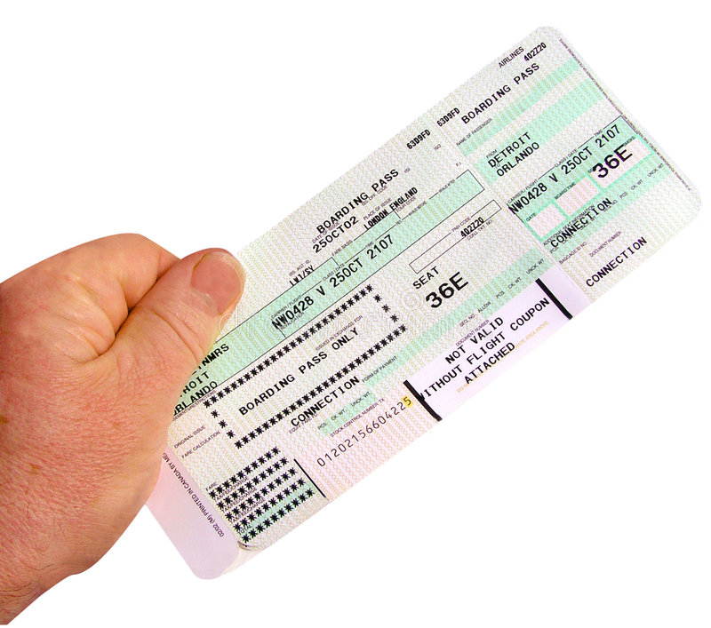 Boarding Pass royalty free stock images