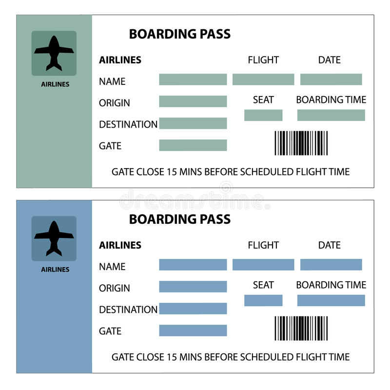 Download Boarding Pass stock vector. Illustration of airplane - 33427737