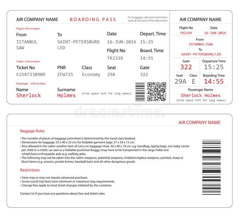 boarding pass template free - boarding pass stock vector illustration of aircompany