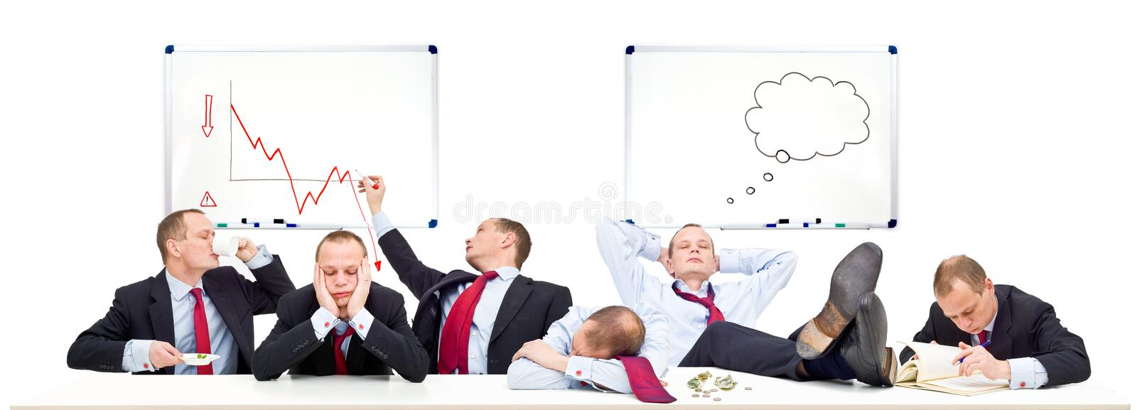 Boardroom on a slow day royalty free stock photo