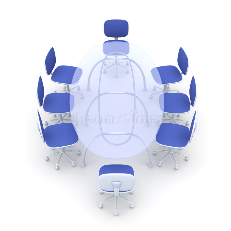 Boardroom Table royalty free illustration