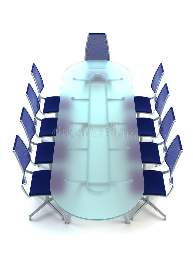 Download Boardroom With Table And Chairs Stock Illustration - Image: 10841778