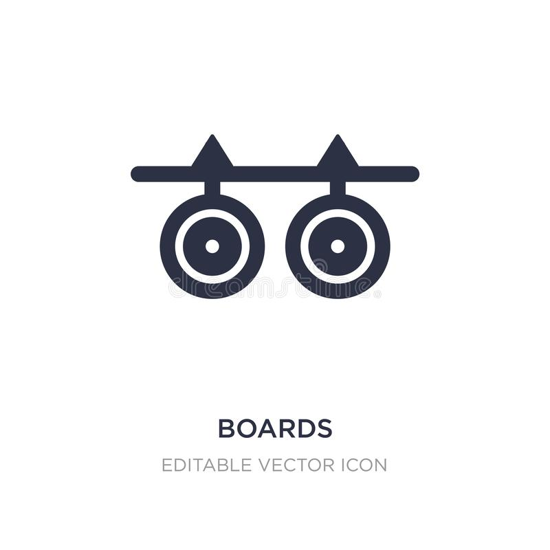 boards icon on white background. Simple element illustration from Weapons concept stock illustration