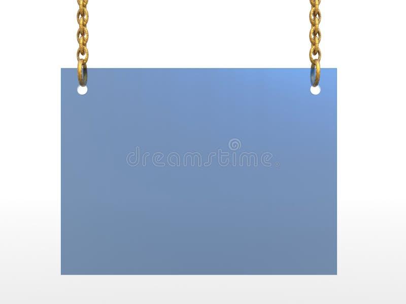 Boardsign de vidro ilustração do vetor