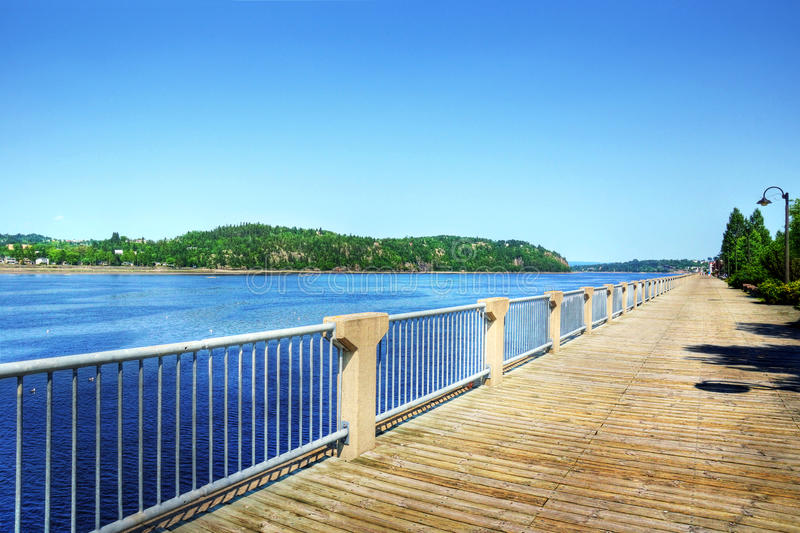 Download Boardwalk Along The Saguenay River Stock Photo - Image: 32591930