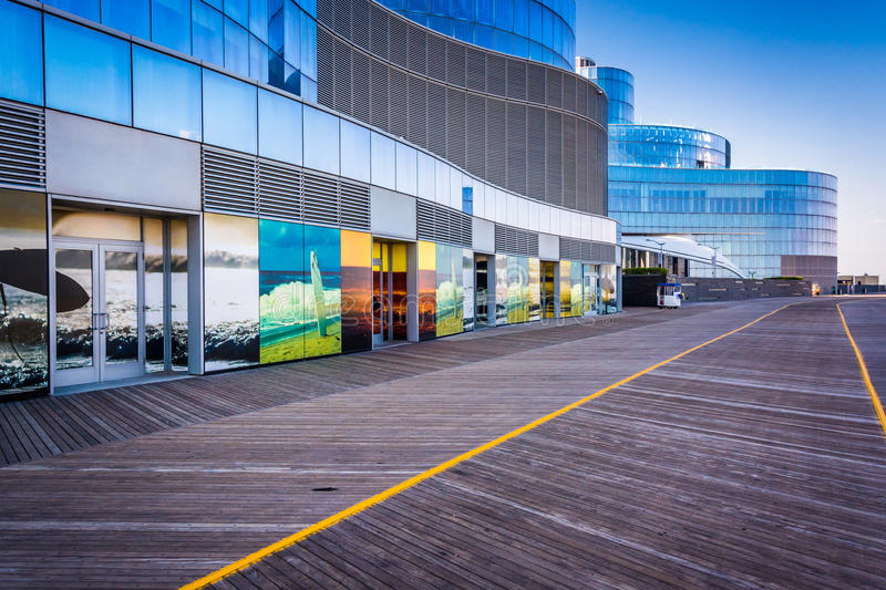 The Boardwalk in Atlantic City, New Jersey. royalty free stock photos