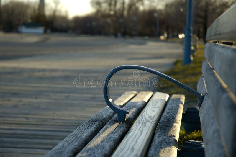 Boardwalk Bench stock image