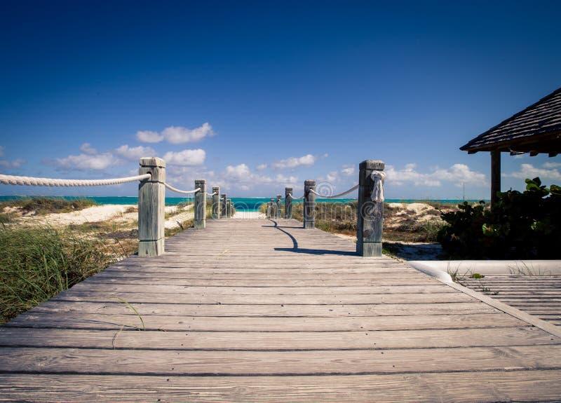 Boardwalk Caicos i turkowie zdjęcia royalty free