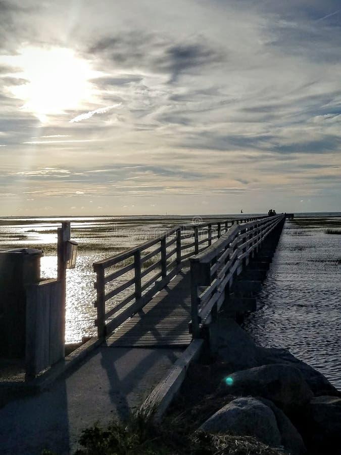 Boardwalk on Cape Cod stock image