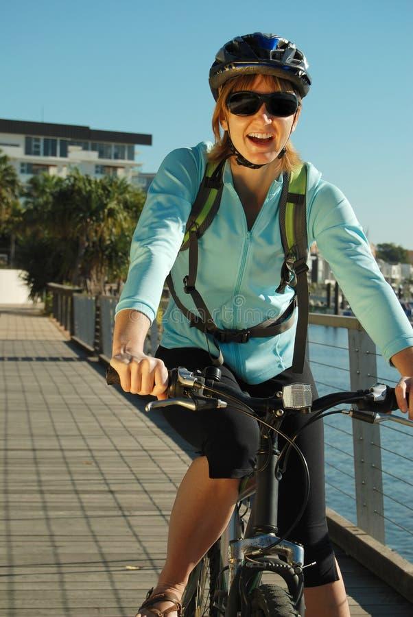Boardwalk cycling stock photography
