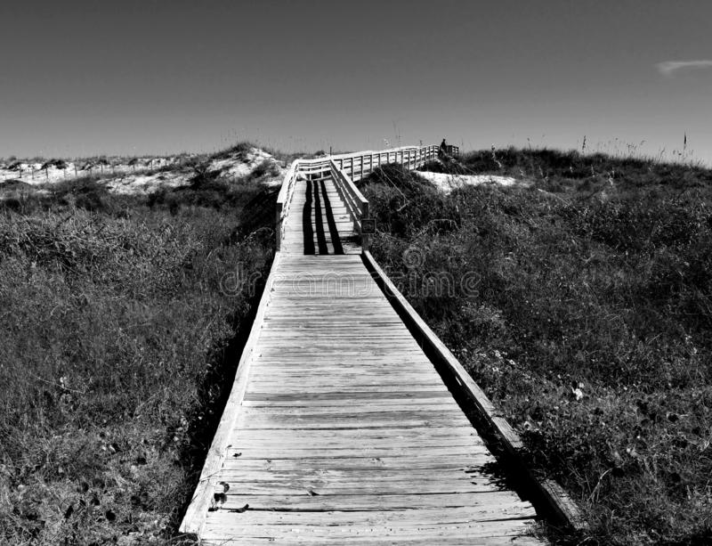 Boardwalk entrance to the beach royalty free stock images