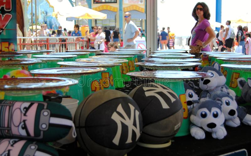 Boardwalk Games. Games found on the boardwalk in Wildwood New Jersey stock images
