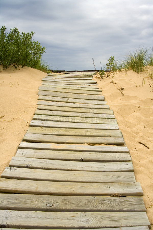 Free Boardwalk In The Sand Royalty Free Stock Photo - 2528185