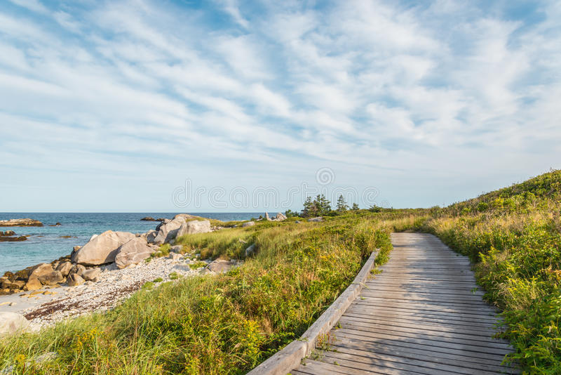 Boardwalk at Keji Seaside trail royalty free stock images