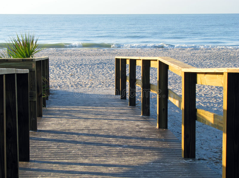 Download Boardwalk leading to beach stock photo. Image of recedes - 6415868