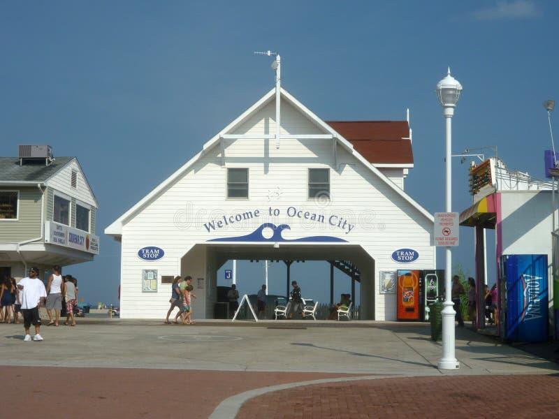boardwalk miasta Maryland ocean zdjęcie stock