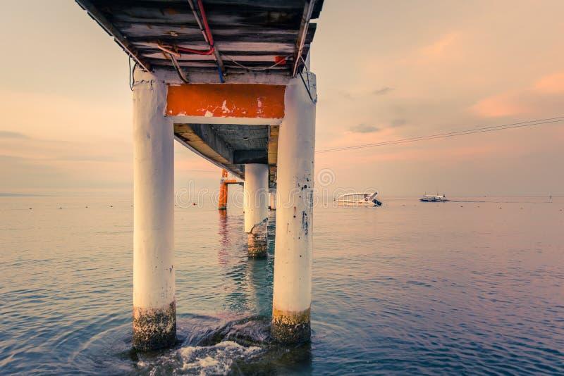 Boardwalk at Morong Beach, Bataan, Philippines.  royalty free stock photos