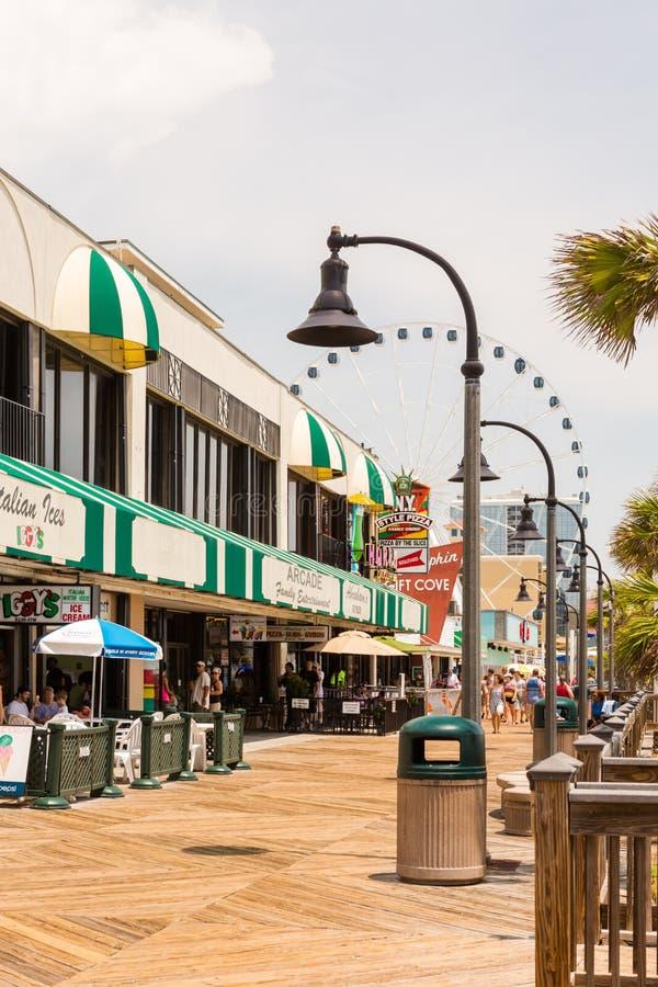Boardwalk. Myrtle Beach, South Caroline, USA-July 10, 2014. Boardwalk in Myrtle Beach, South Carolina stock images