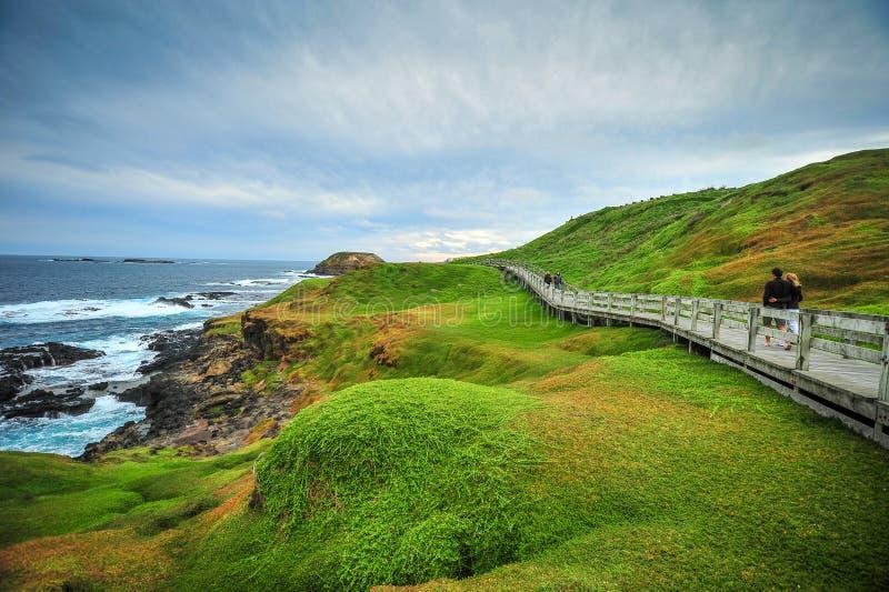 Boardwalk na Australijskiej linii brzegowej obraz royalty free